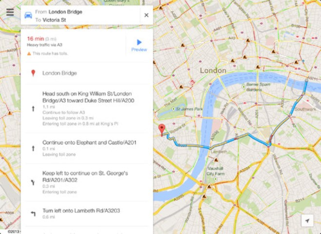 Google Maps For Ios Upgrades Support Ipad Interface