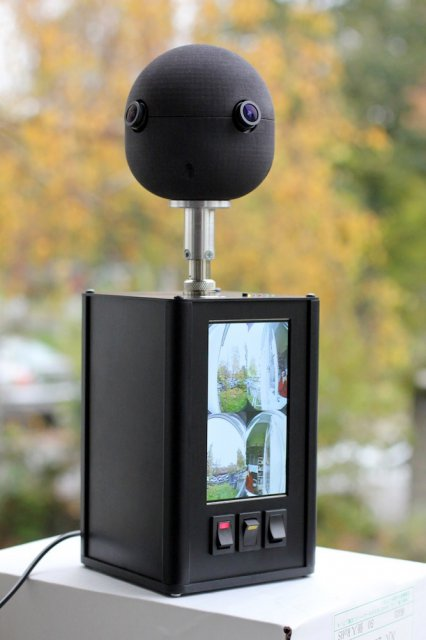 Video camera with a field of view of 360 degrees