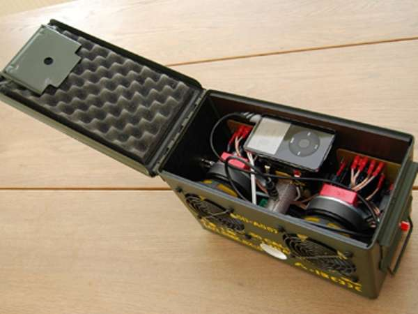 speakers in box. a-box - a speaker in box of ammunition speakers l