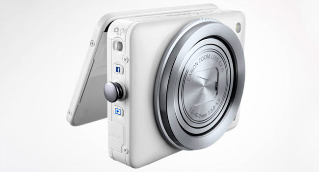 Canon PowerShot N released a camera with Facebook button