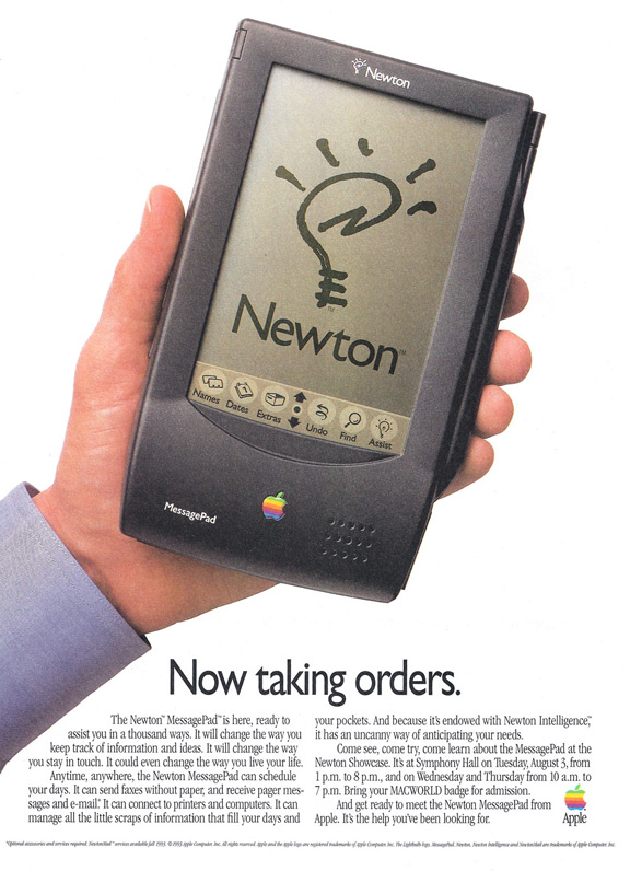 one of the failures of apple history of newton pda