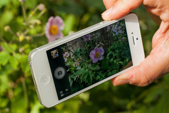 How to focus a camera in the iPhone iOS 7 without touching the screen