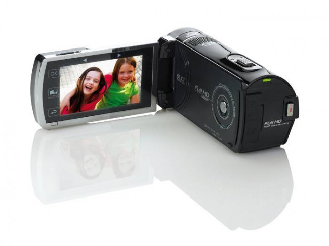 Hi tech news aiptek projectorcam c25 compact camcorder for Compact hd projector