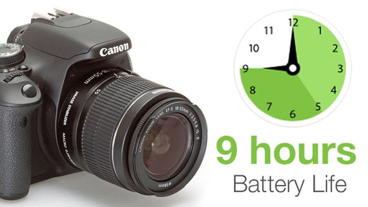 FotoHack e16 – External Battery for DSLR and nine o'clock recording FullHD
