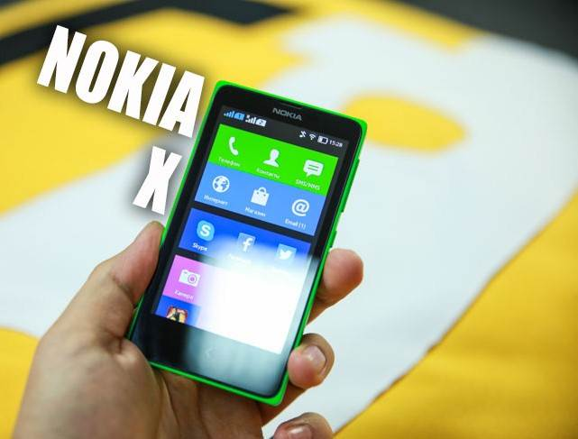 Review of the smartphone Nokia X