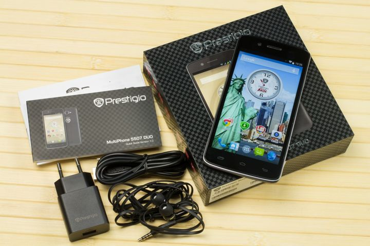 Review smartphone Prestigio MultiPhone 5507 DUO: workaholic without steroids