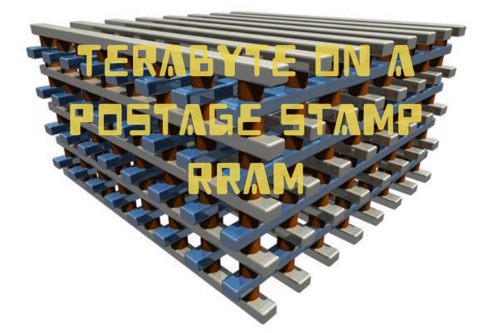 Terabyte on a postage stamp RRAM