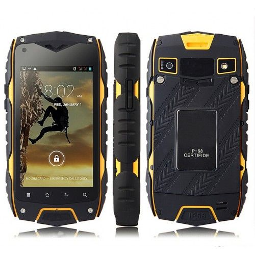 Inexpensive smartphone protected Tengda Z6 with IP68, 3G, and GPS