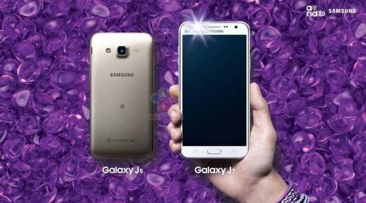 Samsung announced Self-smartphones Galaxy J7 and Galaxy J5