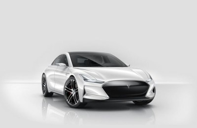 New electric car 2015 Youxia X: Tesla Model 3 from China