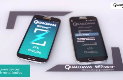 Qualcomm WiPower - wireless charging station for smartphones metal