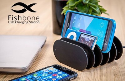 Battery Charger Fishbone charges up to 5 simultaneous gadgets