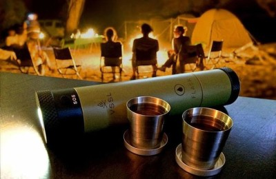 VSSL Flask Light - Flashlight with flask and compass