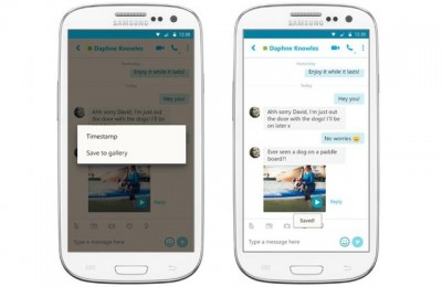 Updated Skype for Android can save video messages