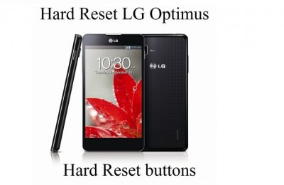 Hard Reset LG Optimus: Hard Reset buttons and Settings menu