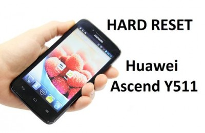 Huawei Ascend Y511 hard reset