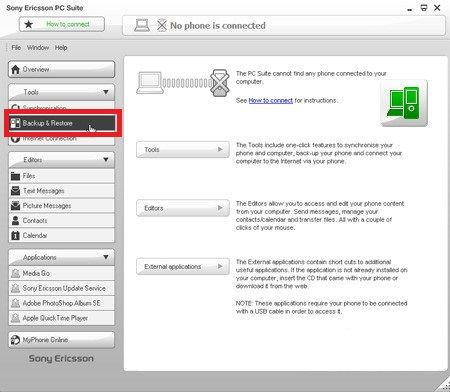Sony Ericsson Xperia Arc S hard reset