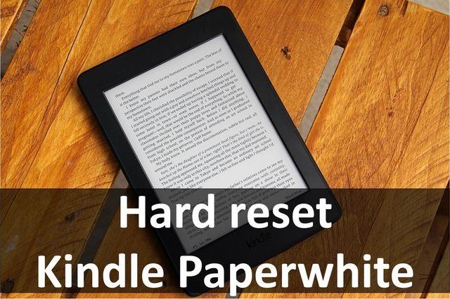 Как сделать hard reset на электронной книге