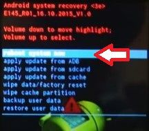 Hard reset DEXP Ixion: step-by-step instruction