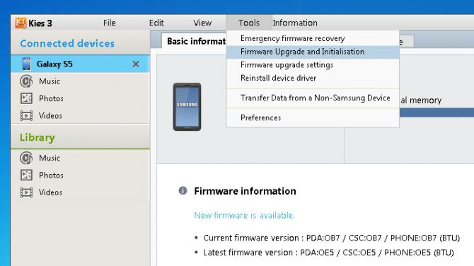 Factory reset Galaxy S5 with broken screen