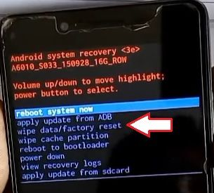Hard reset Lenovo A6010: complete cleaning of smartphone
