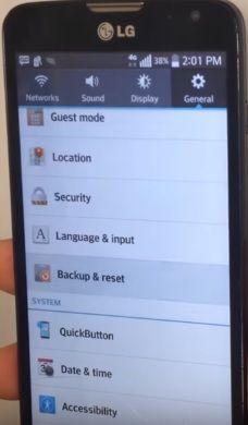 LG L90 hard reset: restore factory settings