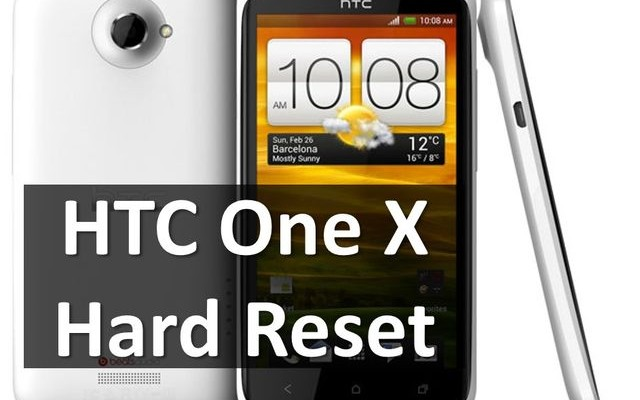 HTC One X hard reset: wipe and remove lock pattern