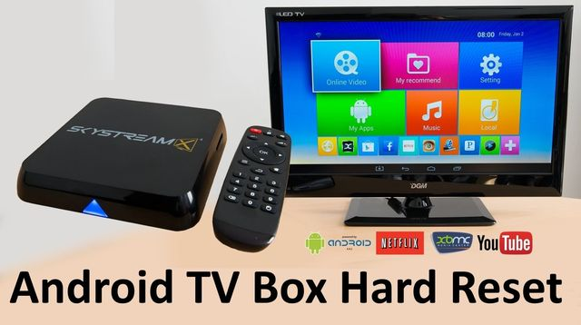 Android TV Box hard reset: restore factory settings