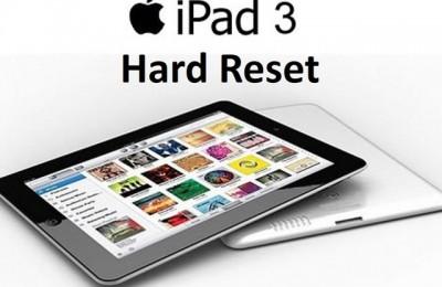 Hard reset iPad 3: using Settings and iTunes