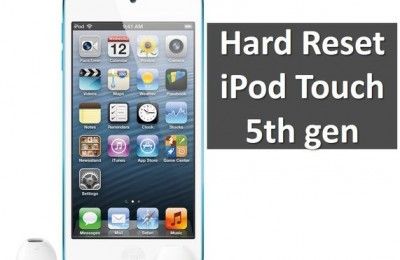Hard Reset iPod Touch 5th gen: reset settings and erase content