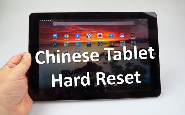 Chinese Tablet Hard Reset: recovery mode with Chinese characters