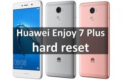 Huawei Enjoy 7 Plus hard reset: bypass lock screen pattern