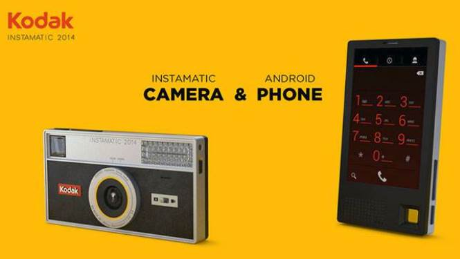 Kodak has developed a camera with functions of compact cameras and smartphones