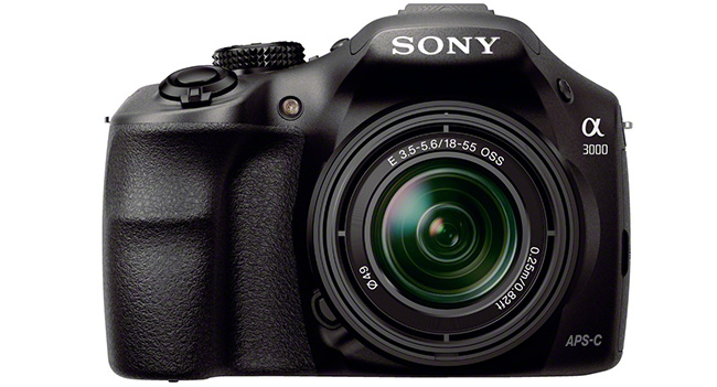 Sony α3000 – like a mirror camera with the ability to use interchangeable lenses