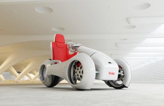 nThree - three-wheeled concept electric bike-raqwe.com-01
