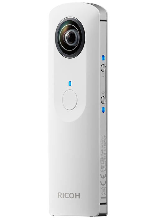 Ricoh has developed a 360-degree consumer camera Theta