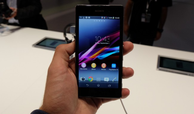 First look at the smartphone Sony Xperia Z1