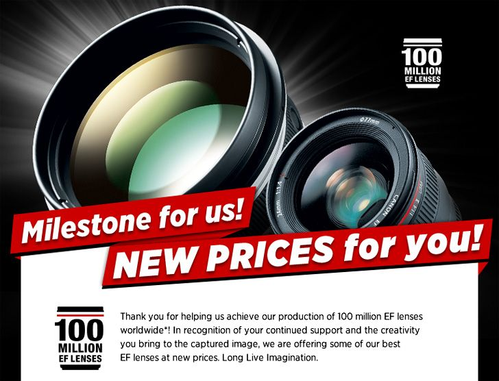 Reducing the cost of a number of Canon lenses from $ 40 to $ 1,000