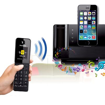 Panasonic introduced the DECT-phone docking station for iPhone