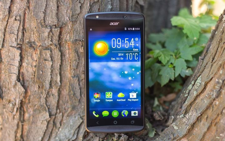 "Review of the smartphone Acer Liquid E700 – ""space for three!"""