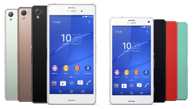 Sony Xperia Z3 and Z3 Compact. Notable examples of build quality smartphone
