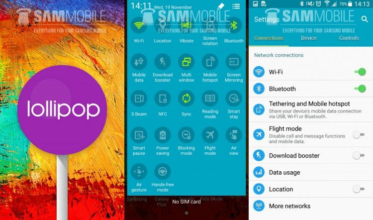 Android Lollipop goes to Note 3 and HTC smartphones