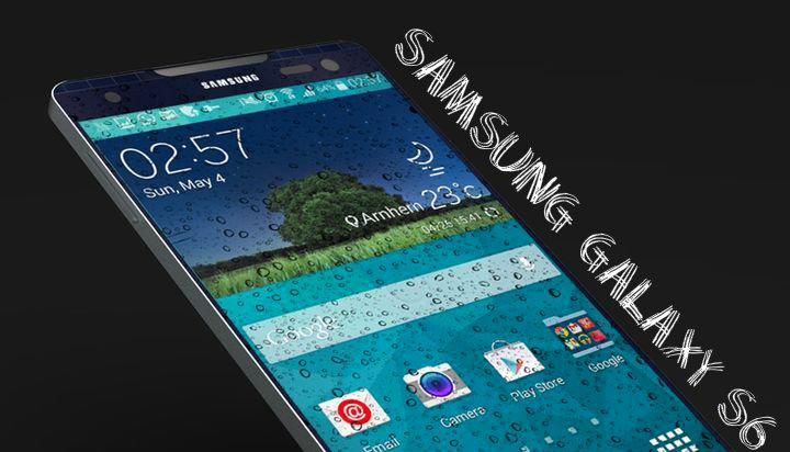 Corps Samsung Galaxy S6 lit on the photo