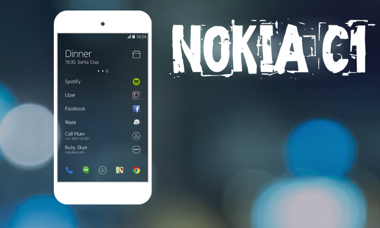 Nokia C1 - a new Android-smartphone