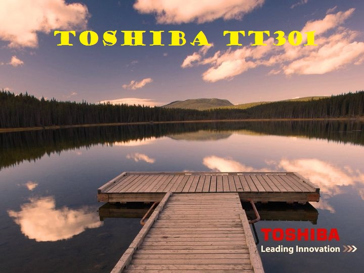 Toshiba TT301 introduced a tablet with a screen diagonal of 24 inches