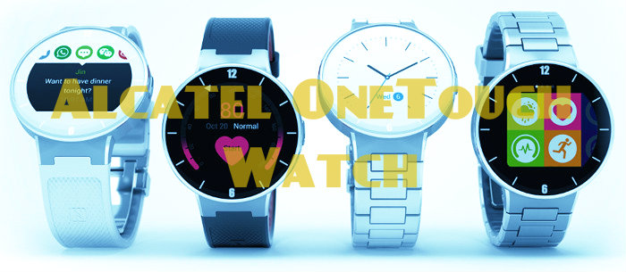 CES 2015. Round smart watches Alcatel OneTouch Watch
