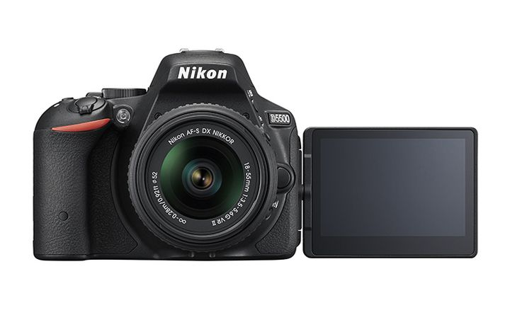 "CES 2015. The announcement of Nikon D5500 - Touch swivel 3.2"" display and a body-monocoque carbon fiber"
