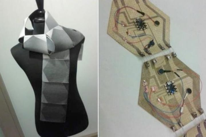 Microsoft showed new and modern unusual scarf