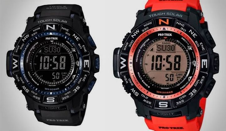 New model of travel watch Casio Pro Trek PRW-3500