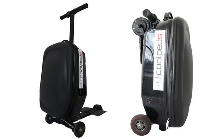 New Briefcase Electric Scooter will not be late for the flight